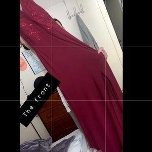 Nightway Sequin Halter top long formal gown